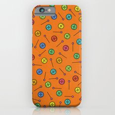 Colorful Button and Pin Pattern iPhone 6s Slim Case