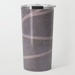 Geometric Pink Concrete Travel Mug