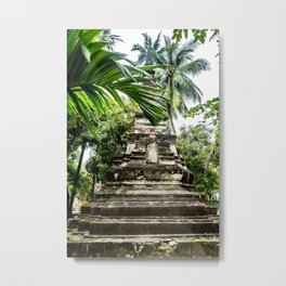 Wat Si Saket Stupa, Vientiane, Laos Metal Print