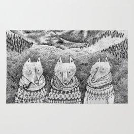 Icelandic foxes Rug