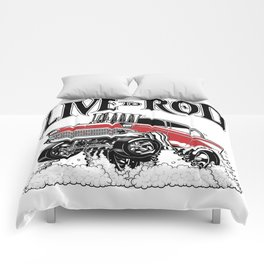 1957 CHEVY CLASSIC HOT ROD Comforters