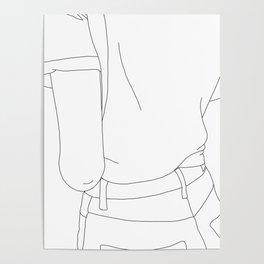 Fashion illustration line drawing - Cairo Poster