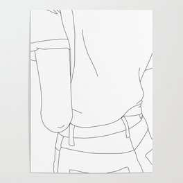 Fashion illustration line drawing - Cairo Poster