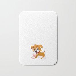 Funny Pregnant Design Hoping It's A Puppy Bath Mat