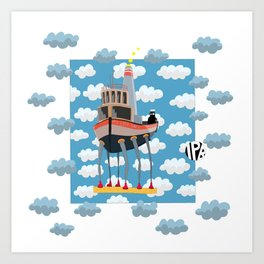 My Little Boat 2! Art Print
