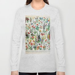 Adolphe Millot - Fleurs A - French vintage poster Long Sleeve T-shirt