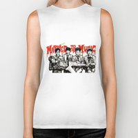 shinee Biker Tanks featuring Married to the Music - SHINee by fabisart