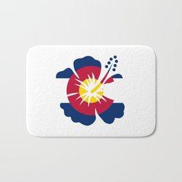 Colorado Hibiscus Flag Bath Mat