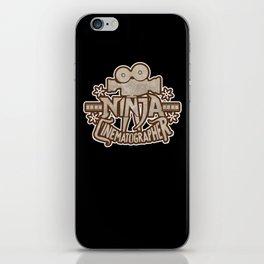 Ninja Cinematographer Filmmaking Apparel and Gifts iPhone Skin