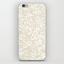 Small Spots - White and Pearl Brown iPhone Skin