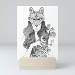 Wolf Woman Mini Art Print