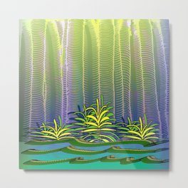 Tropical Yellow Jungle Metal Print