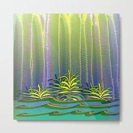 Tropical Yellow Jungle Metal Print