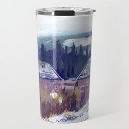 A British Winter Landscape Travel Mug