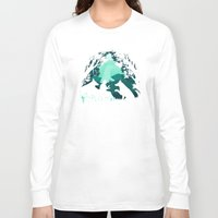 kodama Long Sleeve T-shirts featuring Forest Dwellers by Pigboom Art
