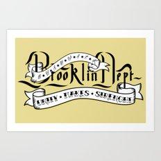 Brooklyn Tribute - White version - Art Print
