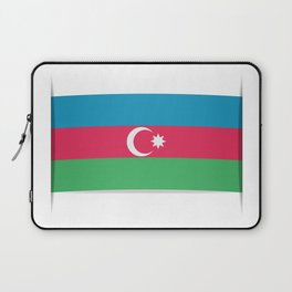 Flag of Azerbaijan. The slit in the paper with shadows.  Laptop Sleeve