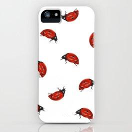 Ladybug Pattern iPhone Case
