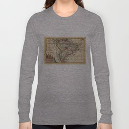 Vintage Map of South America (1747) Long Sleeve T-shirt