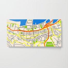 Hong Kong Map design Metal Print