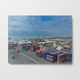 Shipping Containers Noumea Metal Print
