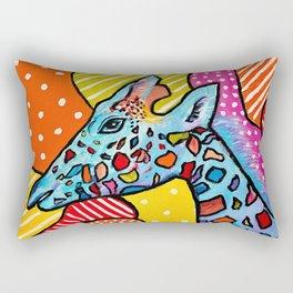 Colorful Giraffe Rectangular Pillow