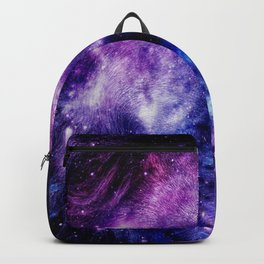 Lion Leo purple blue Backpack