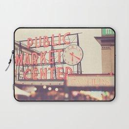 Seattle Pike Place Public Market photograph, 620 Laptop Sleeve