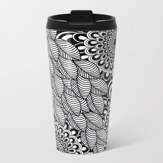 Pattern G Metal Travel Mug