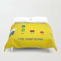 simpsons Duvet Covers featuring Simpsons by Jana Costa