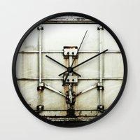 metal Wall Clocks featuring metal by alina vasile
