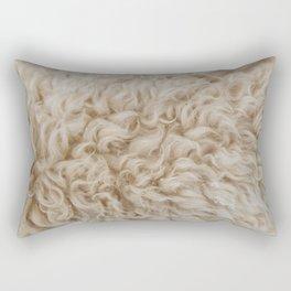 BEIGE FUR Rectangular Pillow