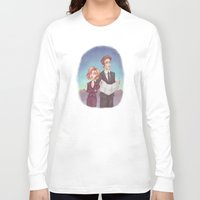 dana scully Long Sleeve T-shirts featuring Mulder & Scully by Kaz Palladino