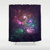 physics Shower Curtains featuring Spiral Galaxy by Nirvana.K