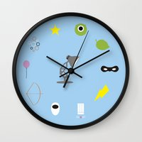 pixar Wall Clocks featuring Pixar minimal by Nicolasfl