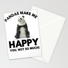 Pandas Make Me Happy Panda Lovers Stationery Cards