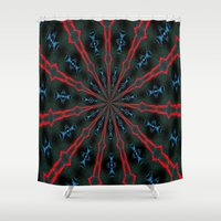 dreamcatcher Shower Curtains featuring Dreamcatcher by Jorte Crioni