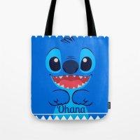 ohana Tote Bags featuring Ohana. by S J A E