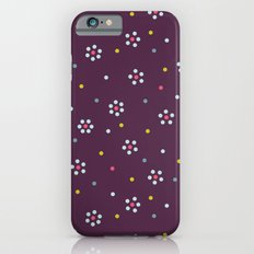 Floral Pattern In Purple And Dots iPhone 6s Slim Case