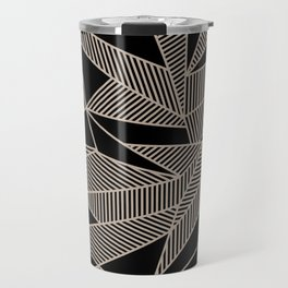 Geometric Abstract Origami Inspired Pattern Travel Mug