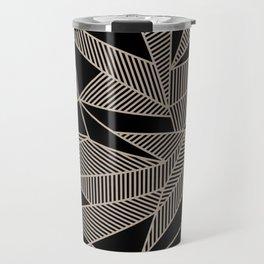 Geometric Abstract Origami Inspired Pattern Travel Mug