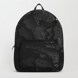 Black Texture (Black and White) Backpack