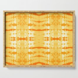 Satin Shibori Yellow Serving Tray