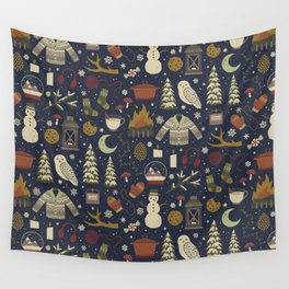 Winter Nights Wall Tapestry