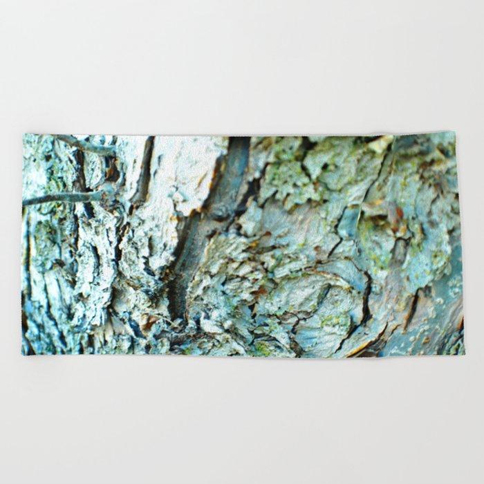 Tree Bark Color Beach Towel