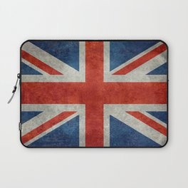 "UK Union Jack flag ""Bright"" retro grungy style Laptop Sleeve"