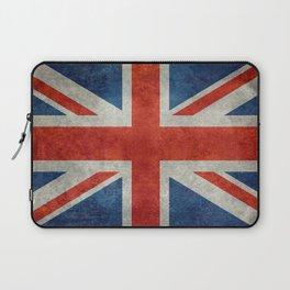 """UK Union Jack flag """"Bright"""" retro grungy style Laptop Sleeve"""