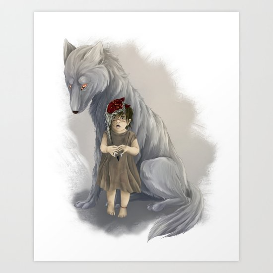 neither human nor wolf Art Print