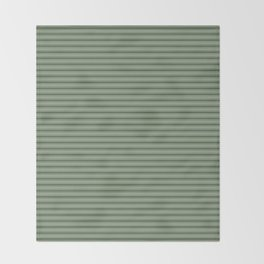 Small Dark Forest Green Mattress Ticking Bed Stripes Throw Blanket