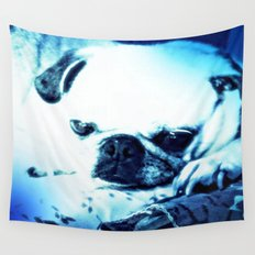 PUG LOVE ~ A Lovely Little Old Lady Wall Tapestry
